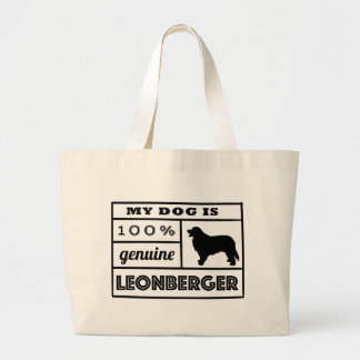 100% Leonberger Large Tote Bag