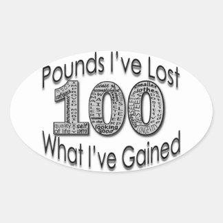 100 libras de pegatina perdido