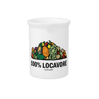 100% Locavore (Pile Of Vegetables) Drink Pitcher