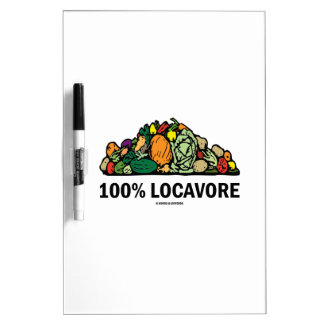 100% Locavore (Pile Of Vegetables) Dry-Erase Boards