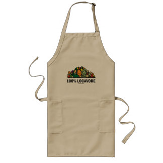 100% Locavore (Pile Of Vegetables) Long Apron
