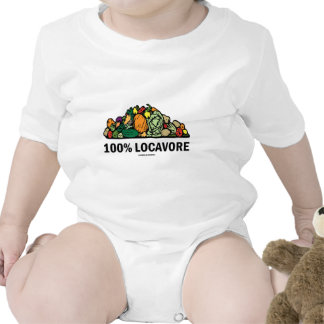 100% Locavore (Pile Of Vegetables) T-shirt