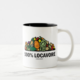 100% Locavore (Pile Of Vegetables) Two-Tone Coffee Mug