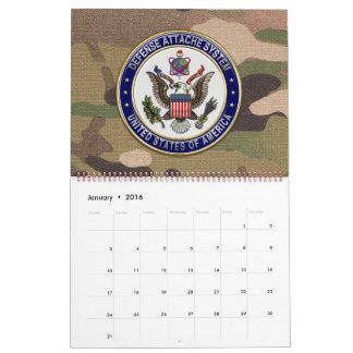 [100] LOS E.E.U.U. Emblema del sistema de Attaché Calendarios De Pared