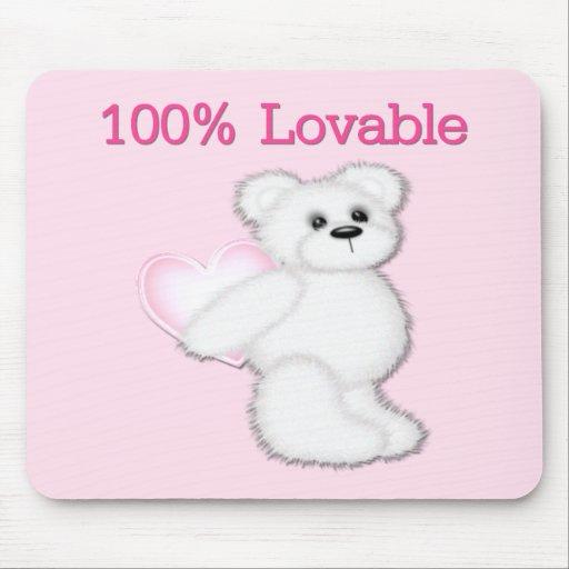 100 % Lovable Bear Mousepads
