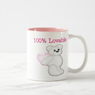 100 % Lovable Bear Two-Tone Coffee Mug