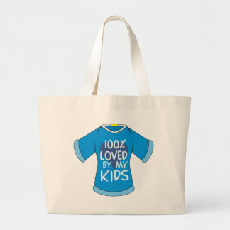 100% Loved By My Kids Tote Bags