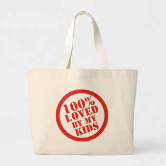 100% Loved By My Kids for Parents Canvas Bags
