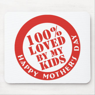 100% Loved By My Kids Mouse Mats