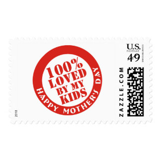 100% Loved By My Kids Postage