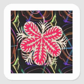 100 lowprice gifts Abstract Butterfly look FLOWER Square Sticker