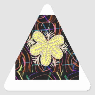 100 lowprice gifts Abstract Butterfly look FLOWER Triangle Sticker