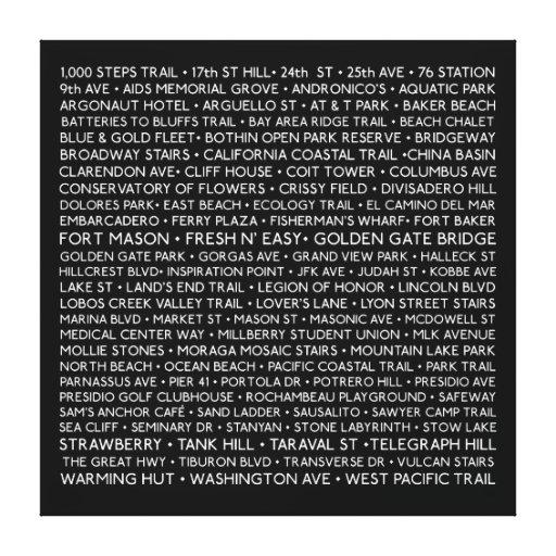 """100 lugares - 24 x 24"""" envolvió la lona lona envuelta para galerías"""