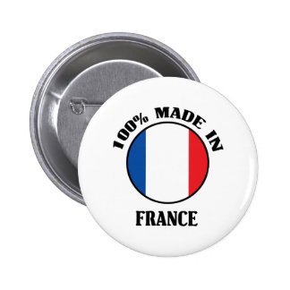 100% Made In France Pinback Button