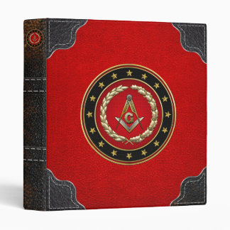 [100] Masonic Square and Compasses [3rd Degree] 3 Ring Binder