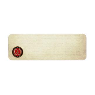 [100] Masonic Square and Compasses [3rd Degree] Label