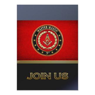 [100] Master Mason, 3rd Degree [Special Edition] 5x7 Paper Invitation Card