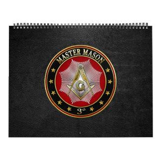 [100] Master Mason - 3rd Degree Square & Compasses Calendar