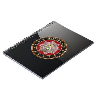 [100] Master Mason - 3rd Degree Square & Compasses Note Books