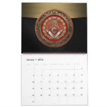 [100] Master Mason - Gold Square & Compasses Calendar