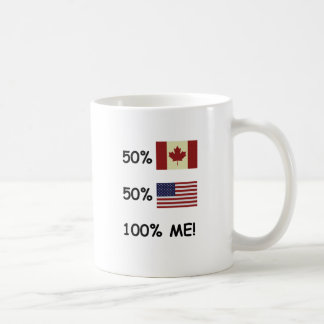 100% ME Canadian/American Classic White Coffee Mug