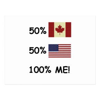100% ME Canadian/American Postcard