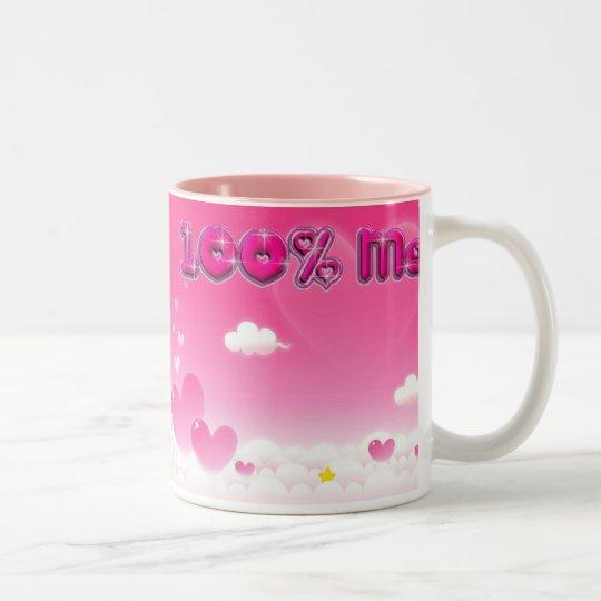 100% Me pink mug