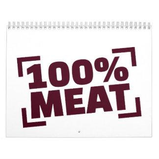100% Meat Calendar