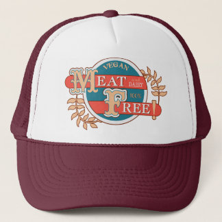 100% Meat Free Vegan Trucker Hat