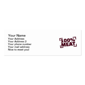 100% Meat Mini Business Card