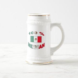 100% Mexican Beer Stein