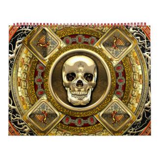 [100] Mictlantecuhtli – Aztec God of Death Calendar