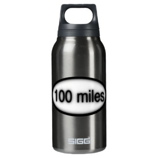 100 miles insulated water bottle