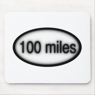 100 miles mouse pad