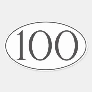 100 millas calcomanía de óval personalizadas