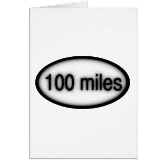 100 millas tarjeta de felicitación