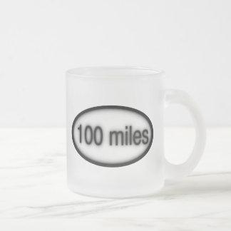 100 millas taza cristal mate
