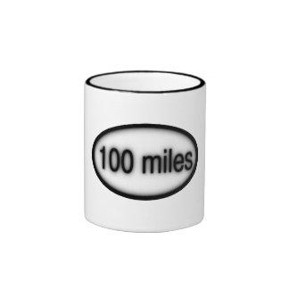 100 millas taza de dos colores