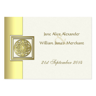 100 Mini Gold Effect Celtic Knot Guest Book Cards Business Card