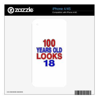 100 miradas 18 de los años iPhone 4S skins