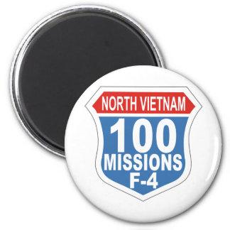 100 misiones F-4 Imán Redondo 5 Cm