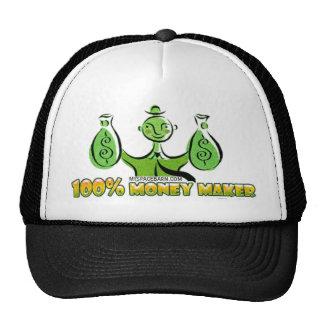 100% money maker trucker hat