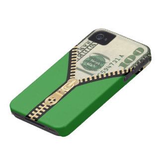 $100 Money Zipper iPhone 4/4S Case-Mate B.T.
