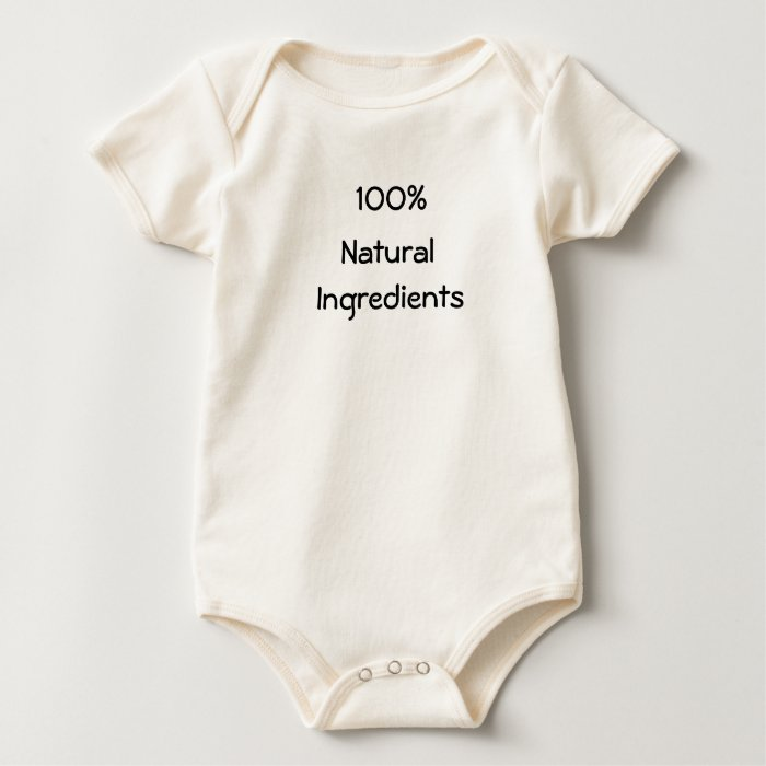 100%, Natural, Ingredients Baby Bodysuit