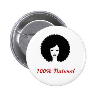 100% Natural Pinback Button