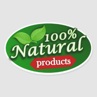 100% Natural Products Sticker