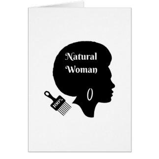 100% Natural Woman Card