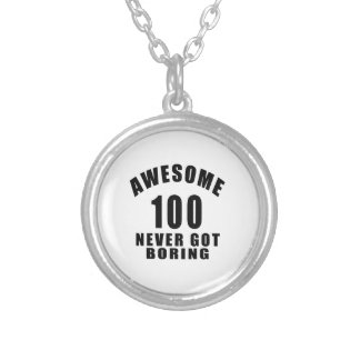 100 never got boring round pendant necklace