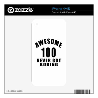 100 never got boring skin for the iPhone 4