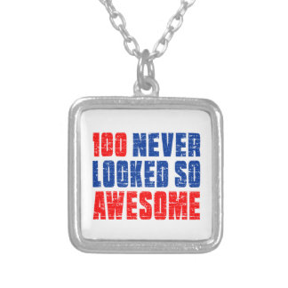 100 Never Looked So Awesome Square Pendant Necklace